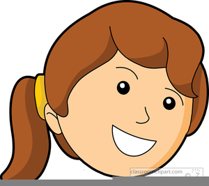 Happy Child Face Clipart.
