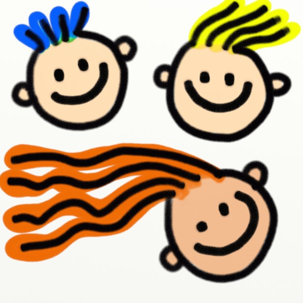 Kids Faces Clipart Free Stock Photo.