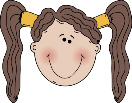Head kids cartoon clipart.