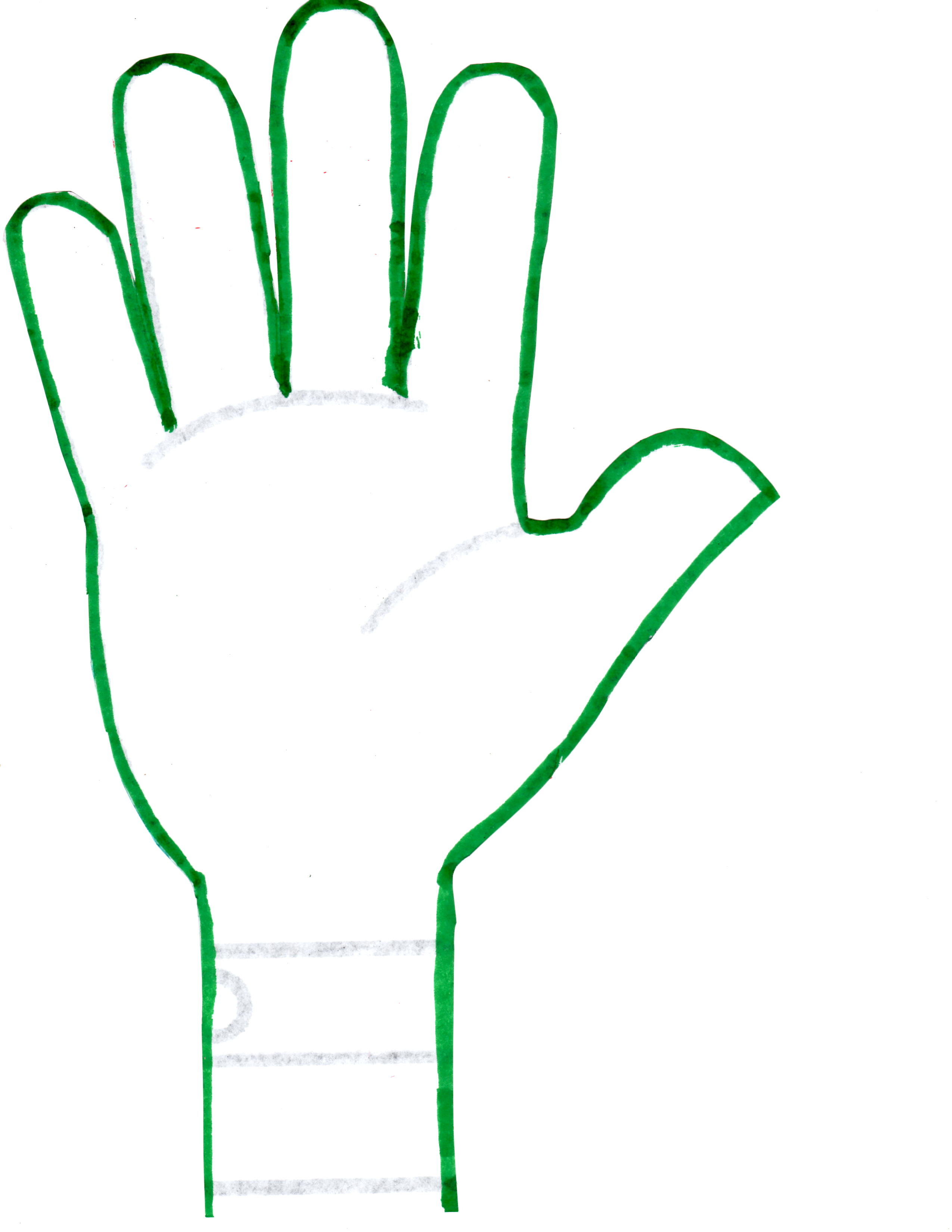 2 Hands Template Clipart.