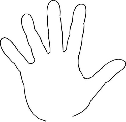 Outline Of Hand.