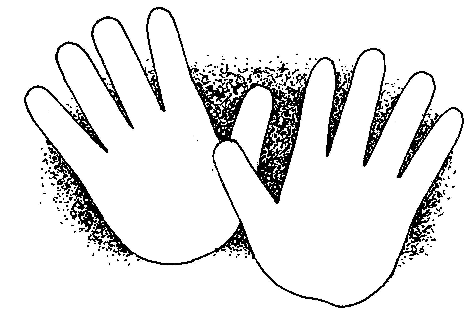 Child Hands Clipart.