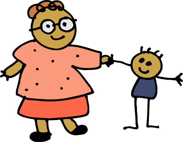 Mom Holding Childs Hand clip art Free Vector / 4Vector.