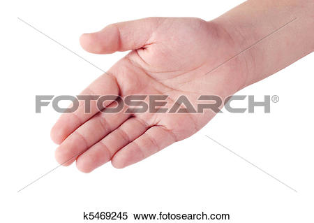 Stock Image of Child's right hand palm k5469245.