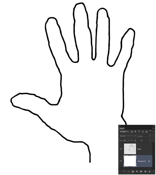 Hand outline printable.