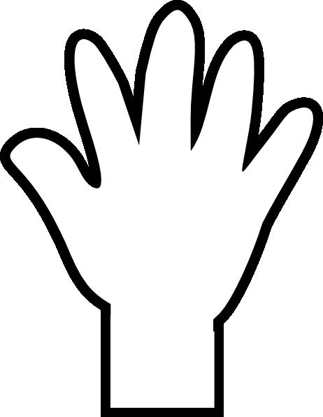 Hand Print Clipart.