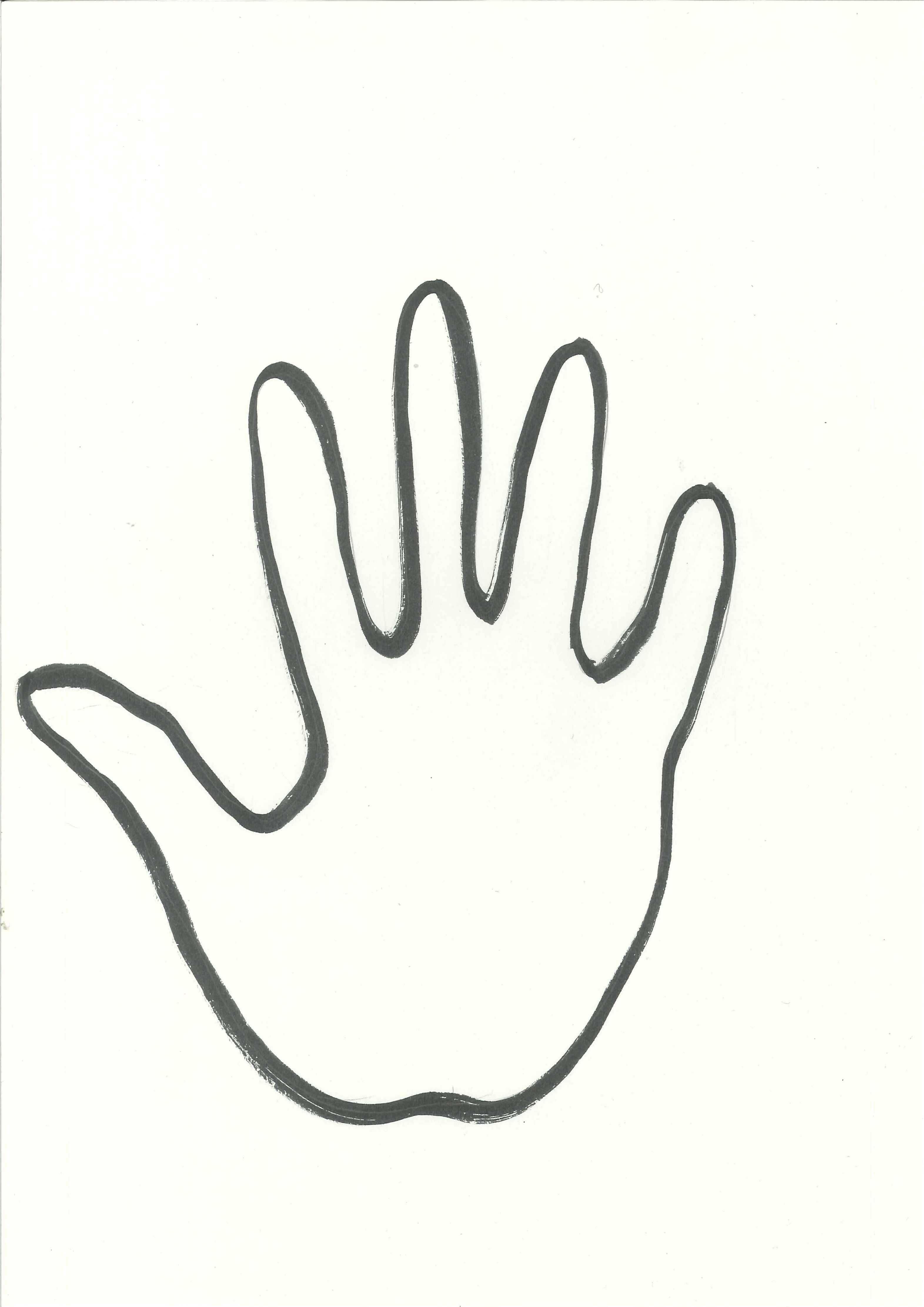 handprint outline clipart - Clipground