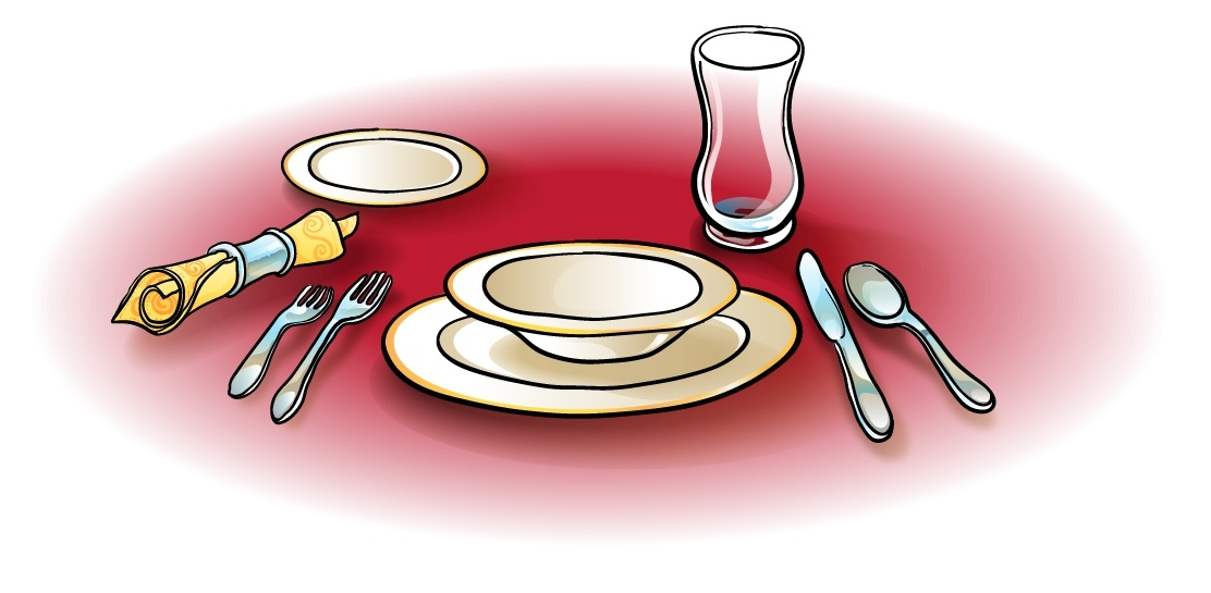 Images: Dinner Table Setting Clipart.
