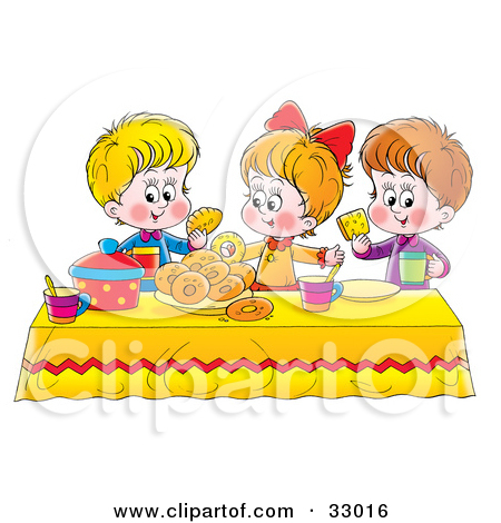 Related Keywords & Suggestions for Kids Setting The Table Clipart.