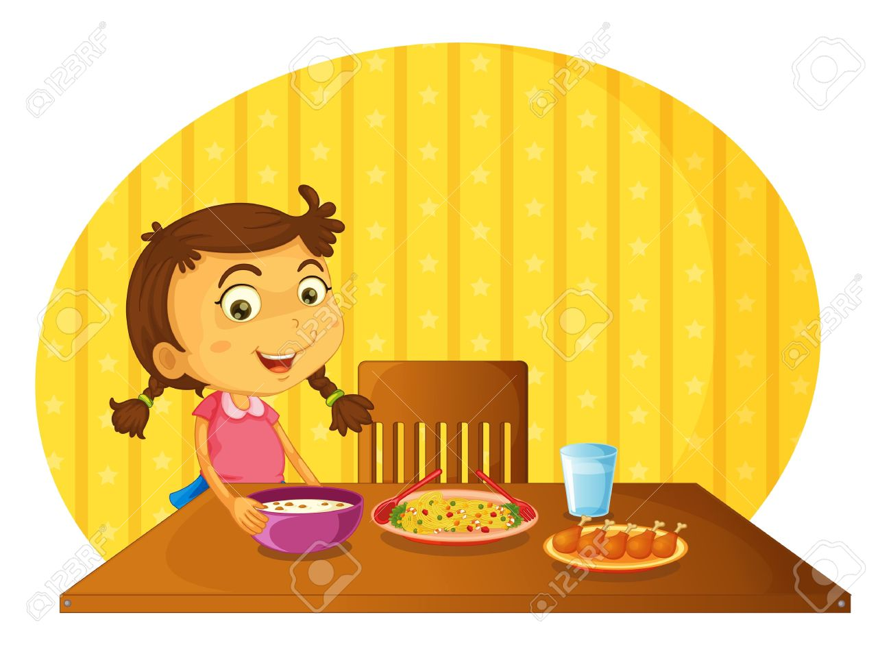 Showing post & media for Cartoon table clip art set.