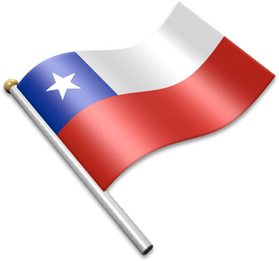 Flag Icons of Chile.