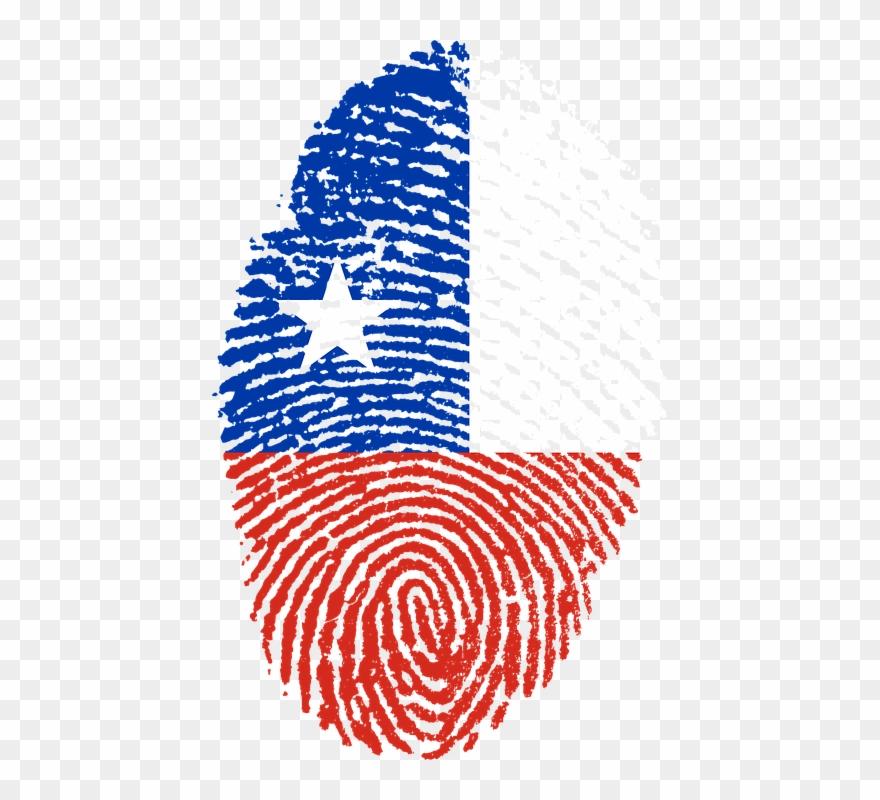 Free Illustration Chile Flag Fingerprint Country Clipart (#2654059.