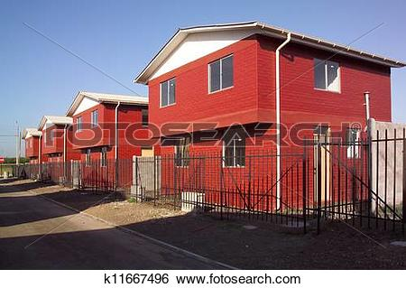Stock Images of Housing projects, Santiago, Chile, South America.