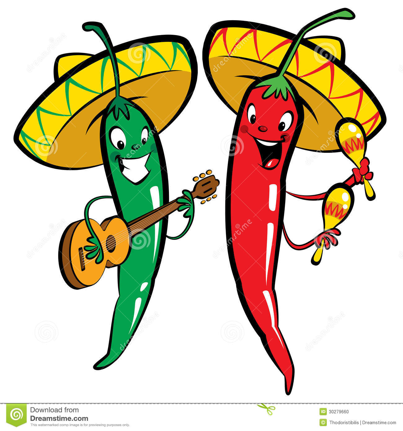 Hot Chili Peppers Clip Art Royalty Free Stock Photos.
