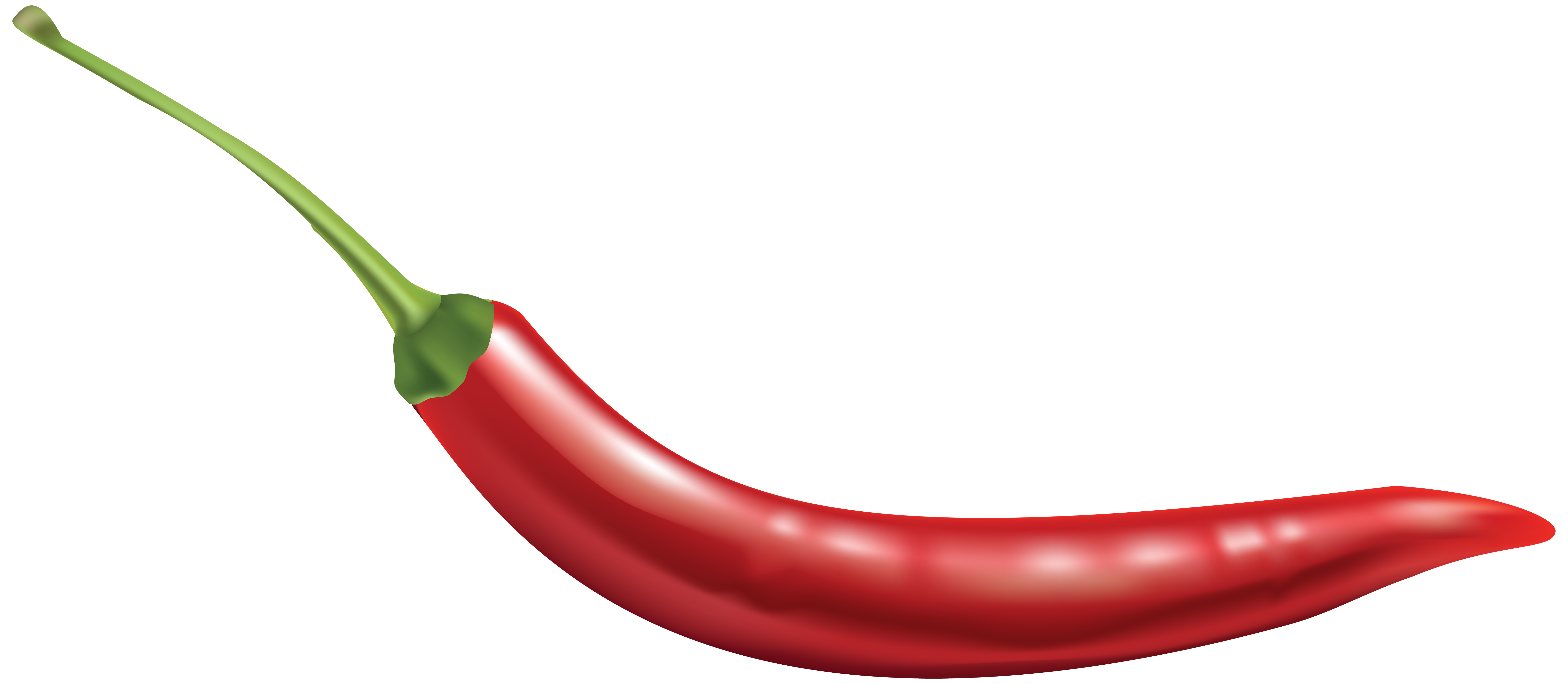 Red Chili Pepper Free PNG Clip Art Image.