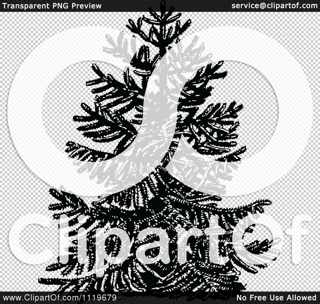 Clipart Of A Retro Vintage Black And White Chile Pine Monkey.