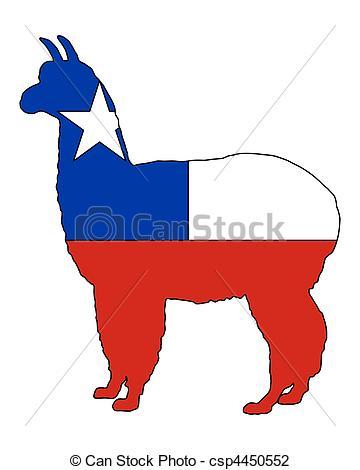 Clip Art of Chilean alpaca csp4450552.