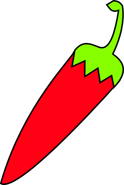Red Chili With Green Tail Clip Art at Clker.com.