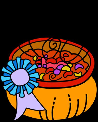 Bowl of chili vector image.