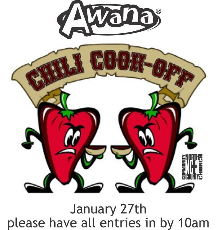 Sign Up Awana Chili Cookoff.
