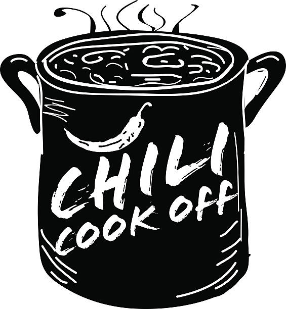Chili Cookoff Illustrations, Royalty.