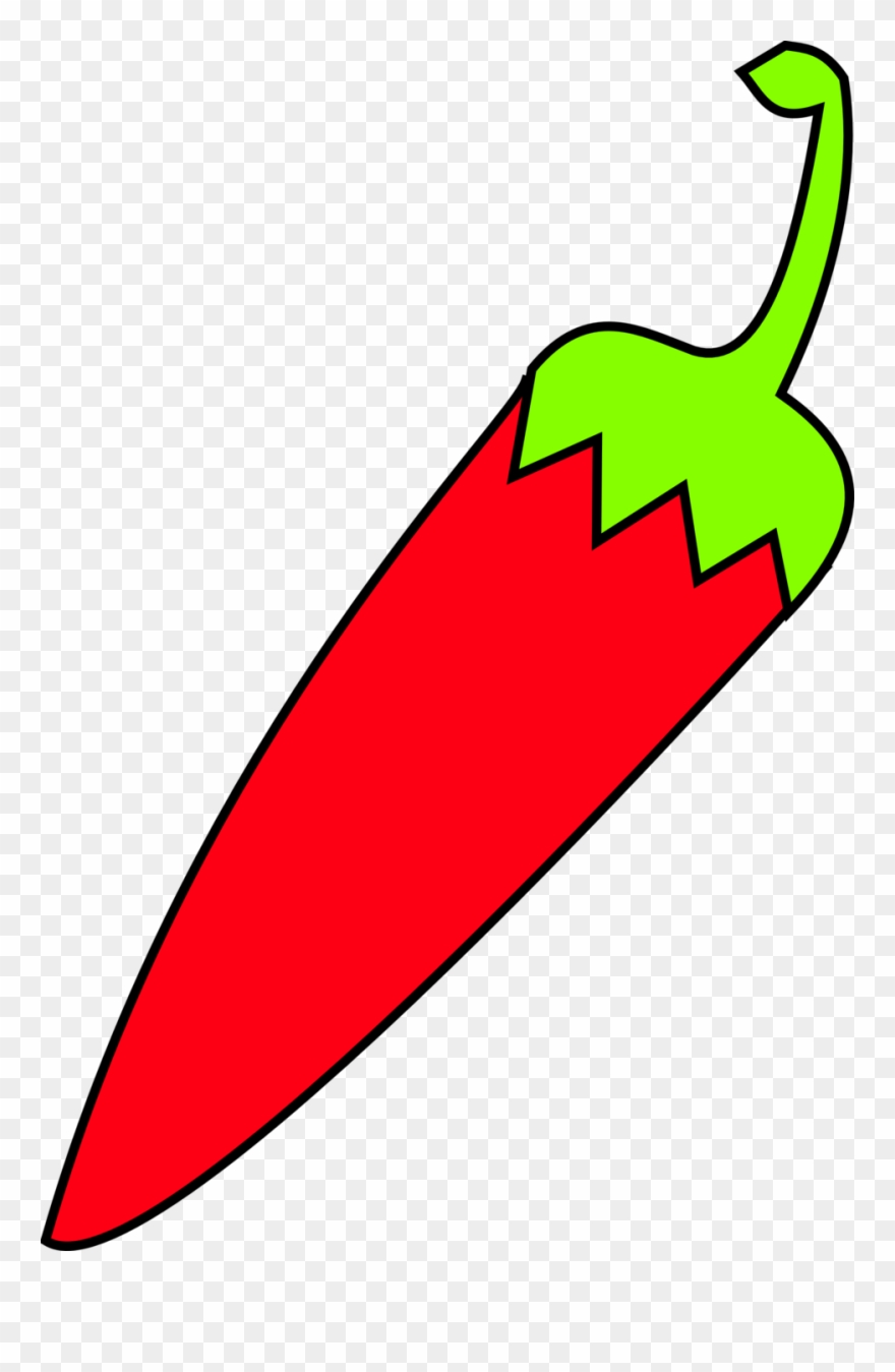 Onlinelabels Clip Art Red Chili With Green Tail Bill.
