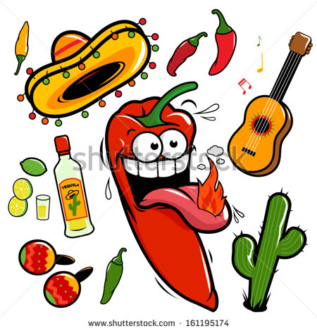 Chili Cartoon Stock Images, Royalty.