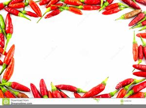 Chilli Pepper Border Clipart.