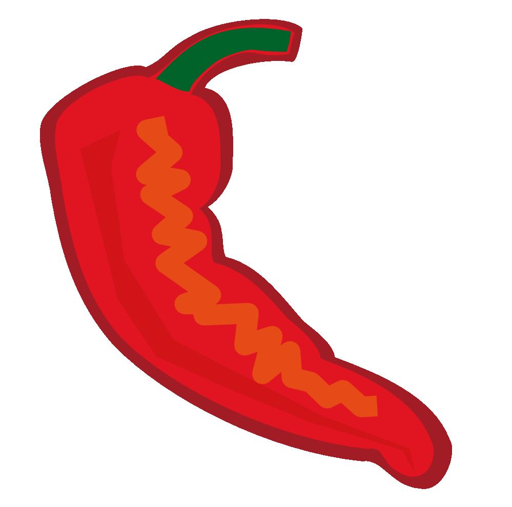 Chili pepper cartoon clipart.