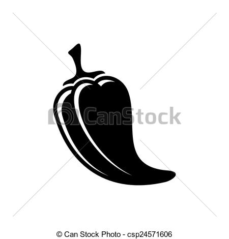 Vector Clipart of Pepper icon.