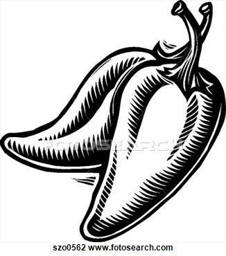 Peppers Clipart Black And White.