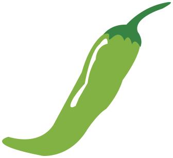 chili pepper green clipart.