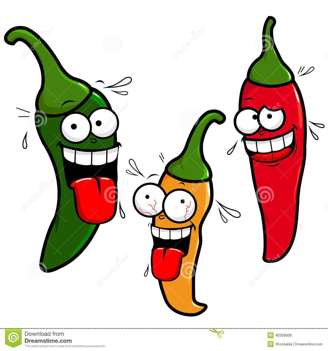 Animated chili pepper clipart.