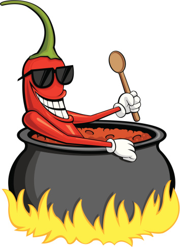 Pot Of Chili Clipart.