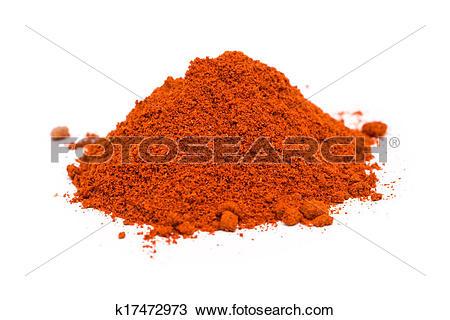 Stock Photo of Kashmiri Chili Powder Pile k17472973.