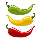 Stock Illustration of Chilli Peppers k0021787.