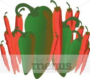 Chilis Clip Art.