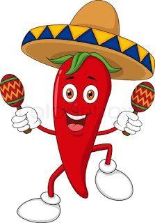 chili pepper cartoon.