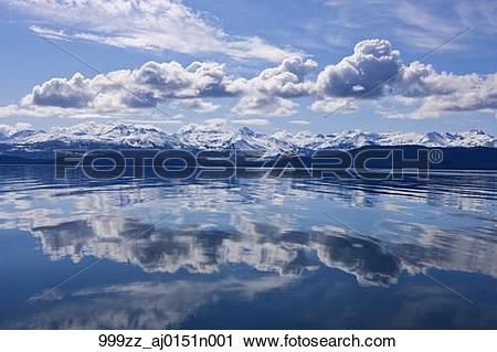 Stock Photography of Scenic view of the Chilkat Mountains.