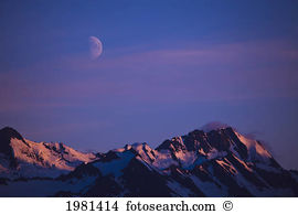 Moon over mountains Stock Photos and Images. 1,380 moon over.