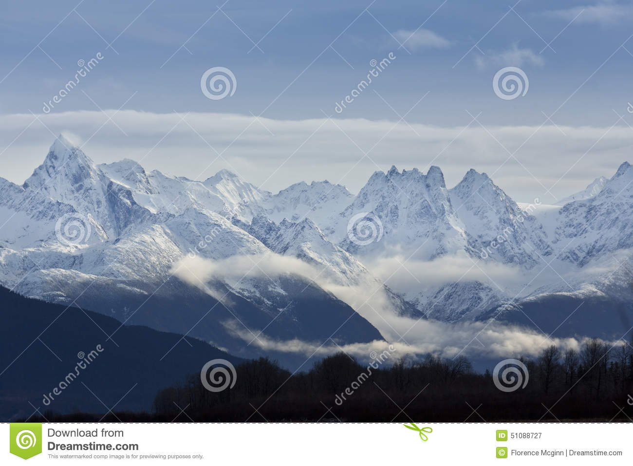 Beauty Of Chilkat Mountains, Haines, Alaska Stock Photo.