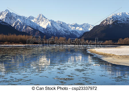 Picture of Chilkat River Freeze Up.
