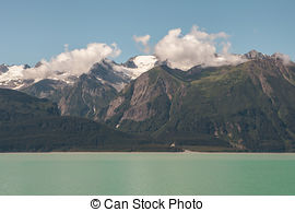Stock Images of Chilkat range with clouds.
