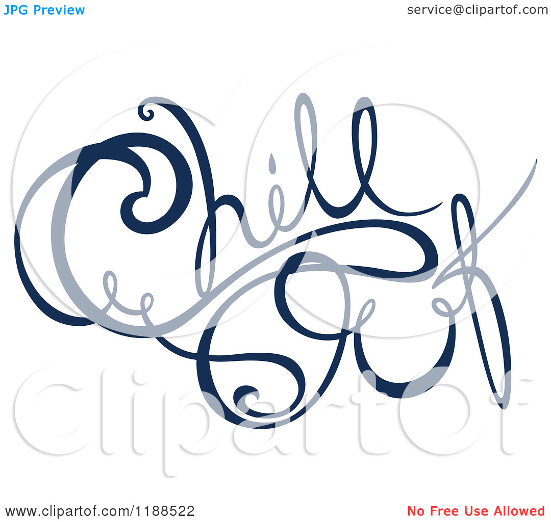 Clipart of Written Dark Blue Chill out.