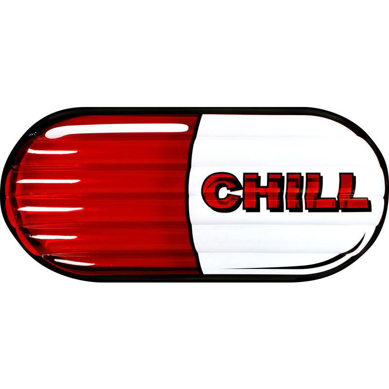 Giant Inflatable Chill Pill Swimming Pool Air Float.