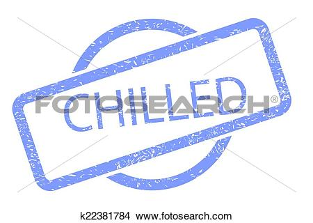 Clipart of Chilled Stamp k22381784.