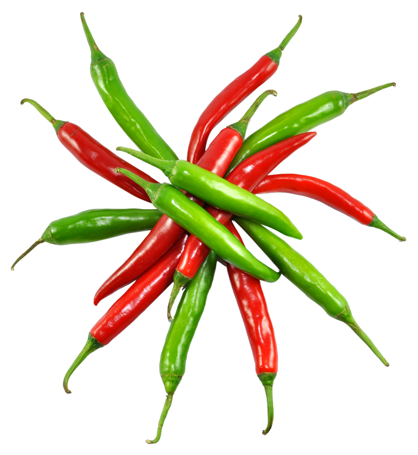 Red and Green Chilli PNG Image.