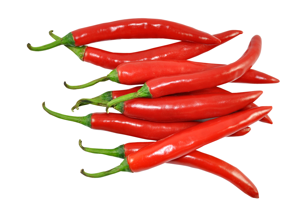 Fresh Red Chillies PNG Image.