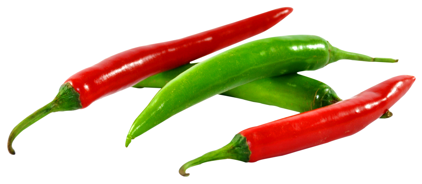 Green and Red Chilli PNG Image.