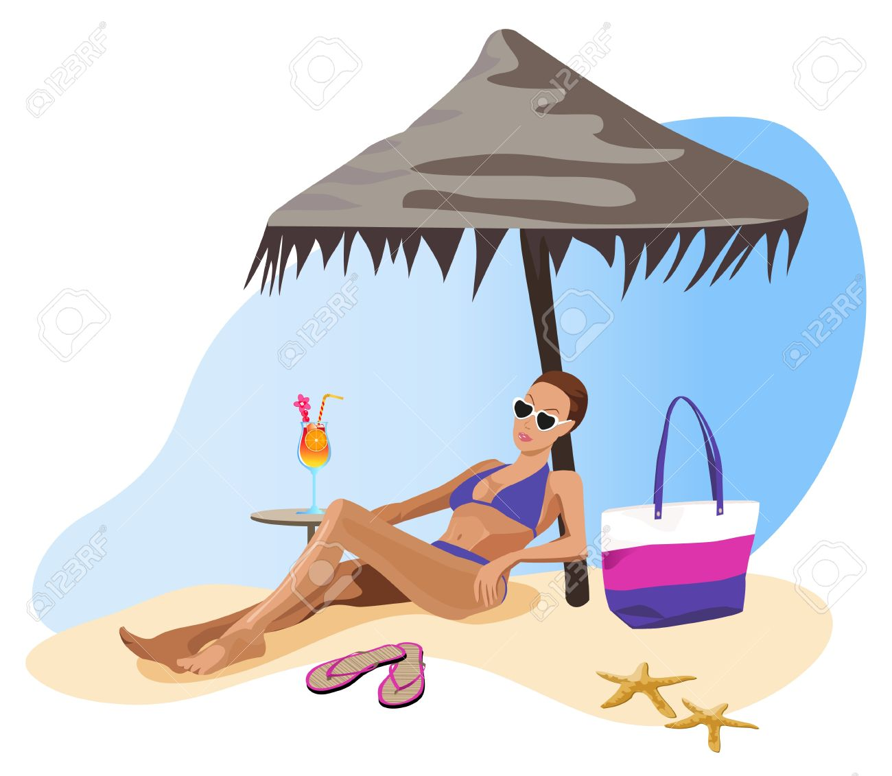 Chilling clipart #10